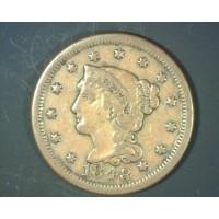 1848 LIBERTY HEAD LARGE CENT 1c EF40