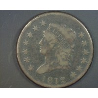 1812 LD CLASSIC HEAD LARGE CENT 1c F12