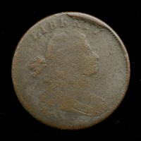 1798 Rev of 1797, Style 2 Hair, SL, Sm8 DRAPED BUST LARGE CENT 1c VG8