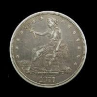 1877-S SmS TRADE DOLLAR $1 EF40