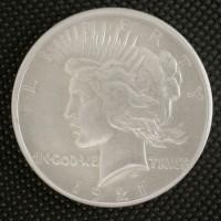 1921 PEACE DOLLAR $1 AU55