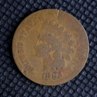 1882 INDIAN CENT 1c AG-G