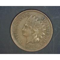 1869/9 INDIAN CENT 1c AU50