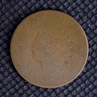 1876 INDIAN CENT 1c Fr2