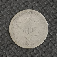 1852 SILVER THREE CENT PIECE 3c AG/G