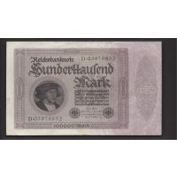 GERMANY, 1923 100,000 Mark EF40 P83a