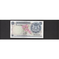 SINGAPORE, 1967 $1 AU50 P1a
