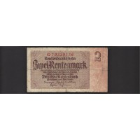 GERMANY, 1937 2 Rentenmark G6 P174b