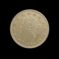 1886 LIBERTY NICKEL 5c (Nickel) AU53