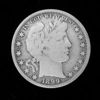 1899-O BARBER HALF DOLLAR 50c F12