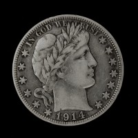 1914-S BARBER HALF DOLLAR 50c VF20