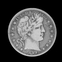1899-O BARBER HALF DOLLAR 50c VF20
