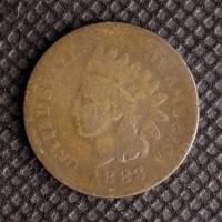 1883 INDIAN CENT 1c AG/G