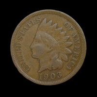 1903 INDIAN CENT 1c VF20