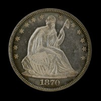 1870 LIBERTY SEATED HALF DOLLAR 50c PF62 CAM
