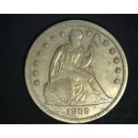 1859-S LIBERTY SEATED DOLLAR $1 EF40