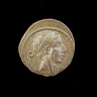 ROME, 56 BC Denarius EF45