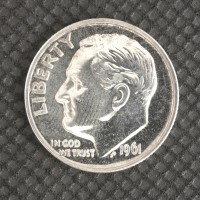 1961 ROOSEVELT DIME 10c PF64