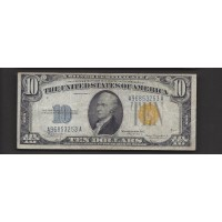 1934-A $10 WORLD WAR II NORTH AFRICA NOTE $10 F15