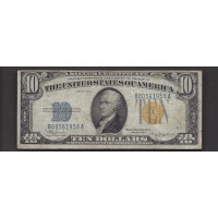 1934-A $10 WORLD WAR II NORTH AFRICA NOTE $10 F15