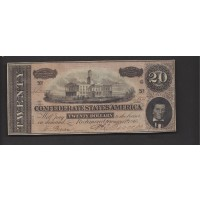 1864 Type 67 $20 AU50