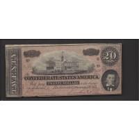 1864 Type 67 $20 VF20