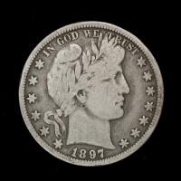 1897-O BARBER HALF DOLLAR 50c VG8