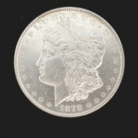 1878 8TF MORGAN DOLLAR $1 AU58