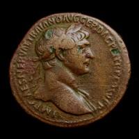 ROMAN EMPIRE, 107 Rome Sestertius F18 Sear 3232