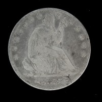1873 Arr LIBERTY SEATED HALF DOLLAR 50c G6