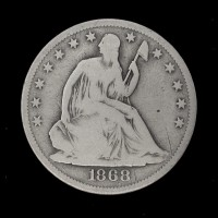 1868-S LIBERTY SEATED HALF DOLLAR 50c G6
