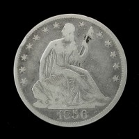 1856-O LIBERTY SEATED HALF DOLLAR 50c VG8