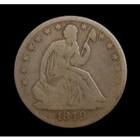 1849-O LIBERTY SEATED HALF DOLLAR 50c VG8