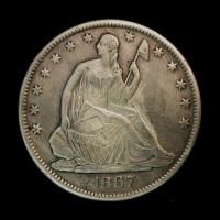 1876-S LIBERTY SEATED HALF DOLLAR 50c AU50