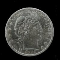 1893-O BARBER HALF DOLLAR 50c AU55 P/L