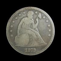 1872 LIBERTY SEATED DOLLAR $1 G6