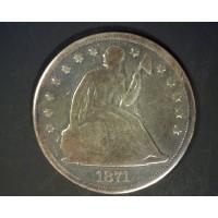 1871 LIBERTY SEATED DOLLAR $1 G5