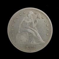 1871 LIBERTY SEATED DOLLAR $1 VF20