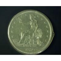 1880 TRADE DOLLAR $1 AU55