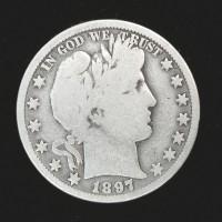 1897-O BARBER HALF DOLLAR 50c VG/G