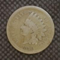 1859 INDIAN CENT 1c G4