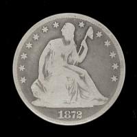 1872 LIBERTY SEATED HALF DOLLAR 50c G4
