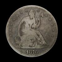 1876-S LIBERTY SEATED HALF DOLLAR 50c G6