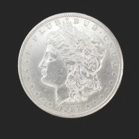 1887-S MORGAN DOLLAR $1 AU53