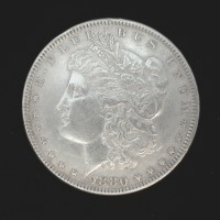 1880 MORGAN DOLLAR $1 AU50