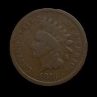 1876 INDIAN CENT 1c G5