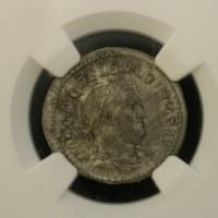 ROMAN EMPIRE, 238 AR Denarius AU50 NGC