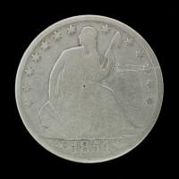 1854-O LIBERTY SEATED HALF DOLLAR 50c G4