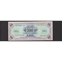 ITALY, 1943 100 Lire AU50 PM15a
