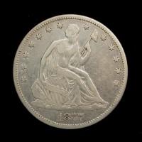 1877 LIBERTY SEATED HALF DOLLAR 50c F18